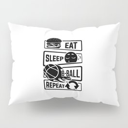Eat Sleep B-Ball Repeat - Basketball Team Dunk Pillow Sham