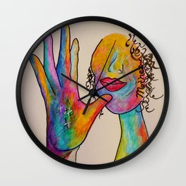 American Sign Language MOTHER Wall Clock
