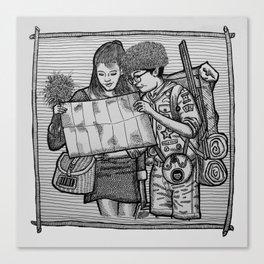 SAM & SUZY FROM MOONRISE KINGDOM. Canvas Print
