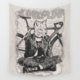Fox Punk Rider Wall Tapestry