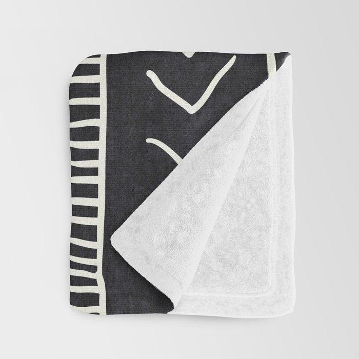 Moroccan Stripe in Black and White Decke