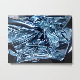 Chrome Folds Architecture  Metal Print