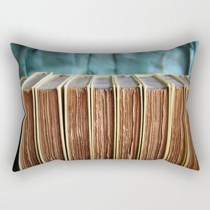 Antique Deckled Pages Rectangular Pillow