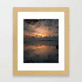 Sunset on the Gulf of Thailand Framed Art Print