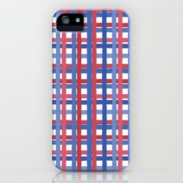 4th of July Gingham iPhone Case