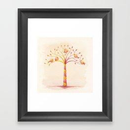 April Tree Framed Art Print