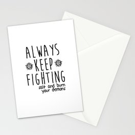 Keep Fighting Stationery Cards