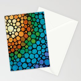 Blissful - Colorful Mosaic Art - Sharon Cummings Stationery Cards