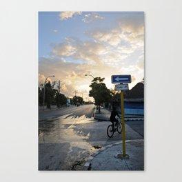 Biking the Streets of Varadero Canvas Print