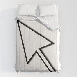 Cursor Arrow Mouse Black Line Comforters
