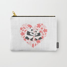 Cute Panda Couple Carry-All Pouch