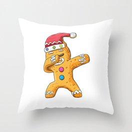 Dabbing gingerbread Dab Christmas cookies funny Baker Throw Pillow