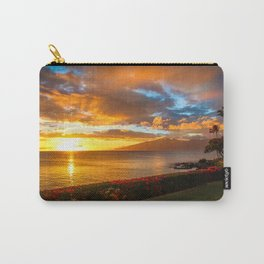 Honokeana Cove Sunset 3 Carry-All Pouch