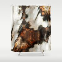 blankets Shower Curtains featuring Winter Soft by Moody Muse