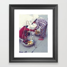 Fruit Sellers, Hoi An.  Framed Art Print