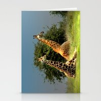 giraffes Stationery Cards featuring Giraffes by Julie Hoddinott