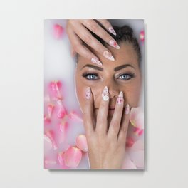 Milk Bath Beauty Metal Print
