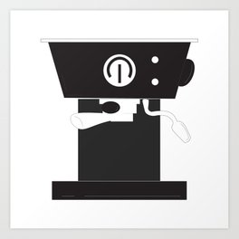 Caffeine Please Art Print