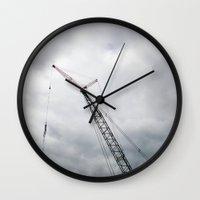 crane Wall Clocks featuring Crane by S. Vaeth