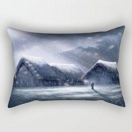 Going Home for Christman Rectangular Pillow