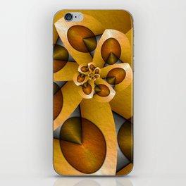Rising, Modern Fractal Art Spiral iPhone Skin