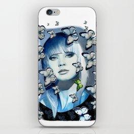 Green Butterfly iPhone Skin