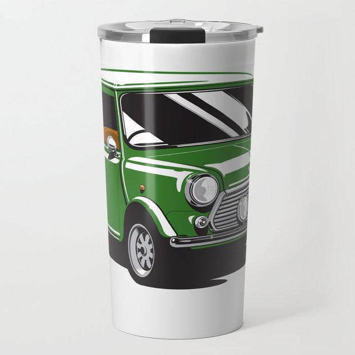 Mini Cooper Car - British Racing Green Travel Mug by cb72 | Society6