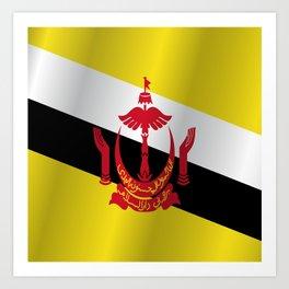 Flag of Brunei Art Print