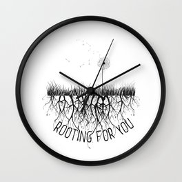 Rooting for U Wall Clock