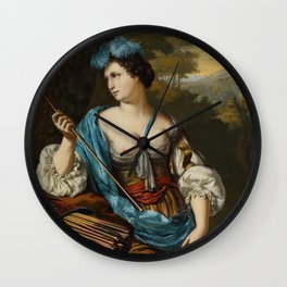 "Willem van Mieris ""Diana Goddess of the Hunt"" Wall Clock"