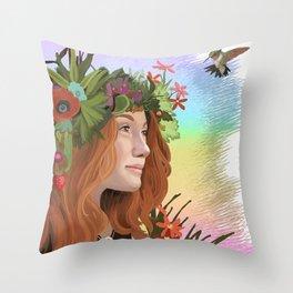 The Choice of Joy Throw Pillow