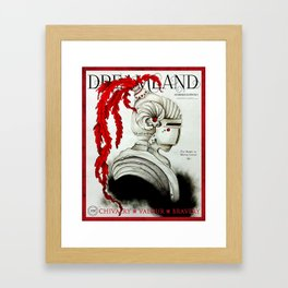 Dreamland Magazine Cover - Summer Ed. I - The Knight in Shining Armour Framed Art Print