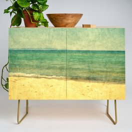 Seascape Vertical Abstract Credenza