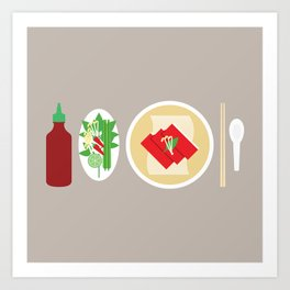 Sriracha Meal Art Print