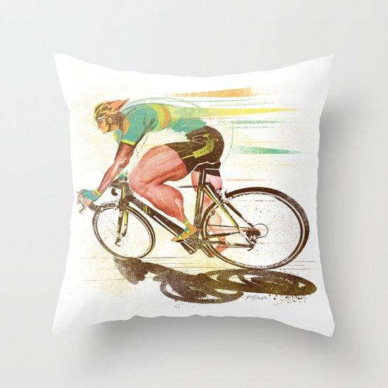 The Sprinter, Cycling Edition Throw Pillow