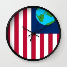 Old Freebie - Earth's Flag Wall Clock