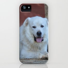 Great Pyrenees livestock guard dog iPhone Case