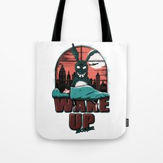 Wake up Donnie Tote Bag