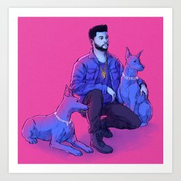 The Weeknd - Abel with Julius + Caesar Art Print