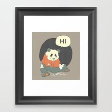 Mr Panda Framed Art Print