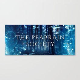 The Peabrain Society Mug Canvas Print