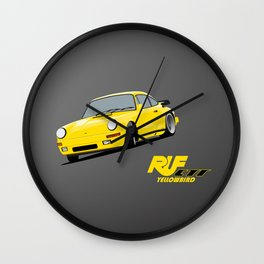 RUF CTR Yellowbird Wall Clock