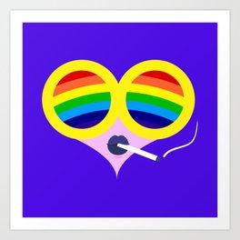 Rainbow Cigs Art Print