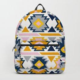 Kilim Abundance Pattern - Slate & Marigold Palette Backpack