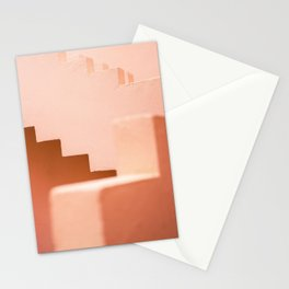 Muralla Roja | Abstract Coral steps in the South of Spain | Travel photography Stationery Cards