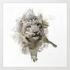 Expressions Snow Leopard Art Print