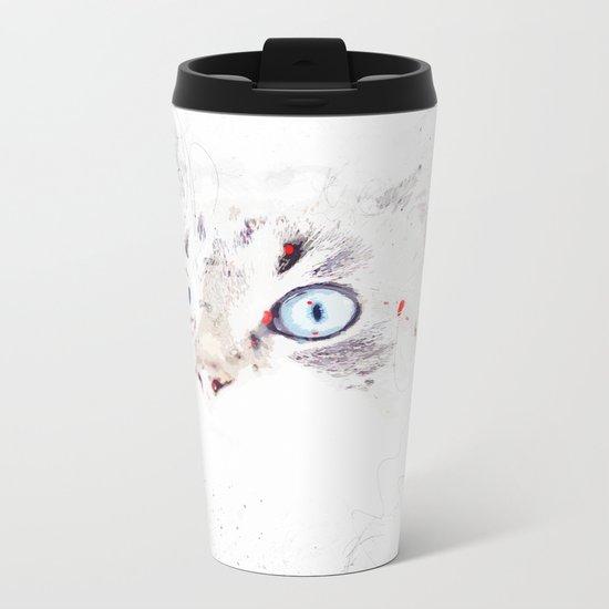 Cat Eyes Metal Travel Mug