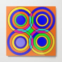 couleurs et cercles Metal Print