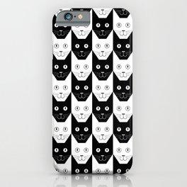 Black cat, white cat iPhone Case