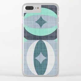 MCM 1978 Teal Clear iPhone Case